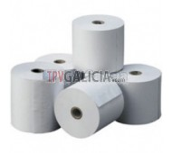 Paquete de 10 rollos papel para registradoras matriciales 57 x 65 mm