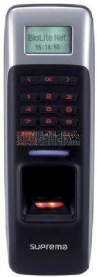Terminal de control de accesos y presencia Biolite NET con lector de huella y tarjeta