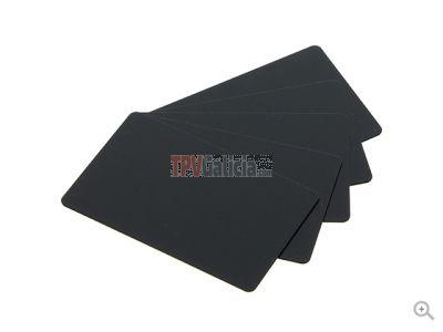 Caja de Tarjetas Negras Mate PVC-U (100 uds.) Válidas normativa uso alimentario válidas para impresora EDIKIO
