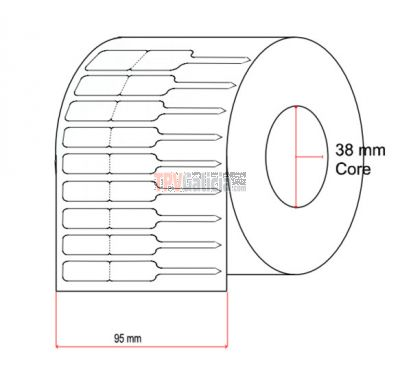 Etiquetas de joyería tipo lanza para anillos - 12mm x 28mm x 28mm