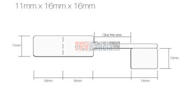 Rollo Etiquetas Joyería tipo lanza para anillos y conjuntos - Blanco - 11mm x 16mm x 16mm - 1.250 etiq