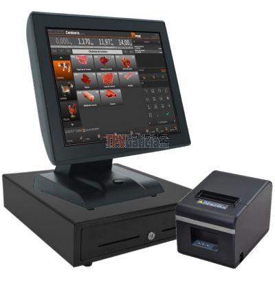 Pack TPV Táctil ALTAIRPOS Neo para SUPERMERCADOS con programa ETPos-PRO y opción BALANZA