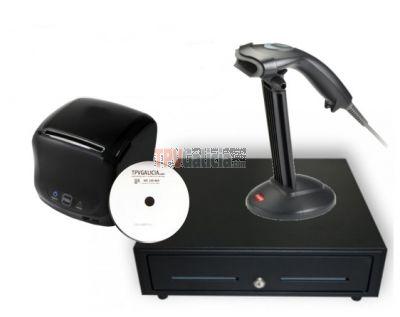 Pack Cajón 41x41 + Impresora de tickets 80 mm + Lector de código de barras + Sotfware CodigoAbertoTPV