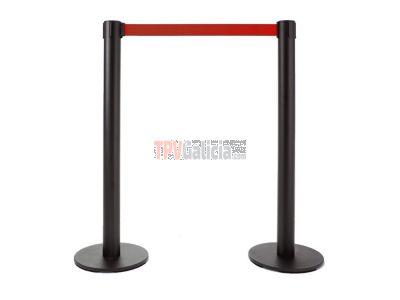 Pack de 2 postes separadores con cinta extensible - CINTA ROJA