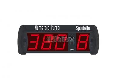 MULTI ST-31 Pantalla de turno de 3 dígitos + puesto con mando a distancia