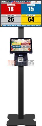 """Soporte Pedestal Metálico color NEGRO para pantalla e impresora TURNO-TOUCH2 y monitor SMART  22""""/32"""" (monitor y unidad táctil de tiques no incluidos)"""