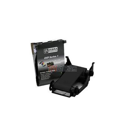 Ribbon NEGRO - ZEBRACARD para impresoras de tarjetas - LOAD-N-GO para ZXP SERIES 1 - 1000 impresiones por rollo