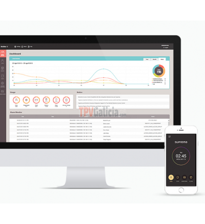 Programa de Control Horario Web  - Biostar V2 SE Edition