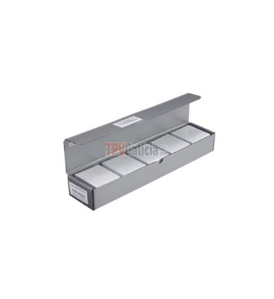 Caja de 500 tarjetas PVC blancas Banda Magnética alta coercitividad