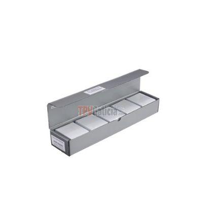 Caja de 500 tarjetas PVC blancas con Holopatch (500 uds.) para impresoras MAGICARD