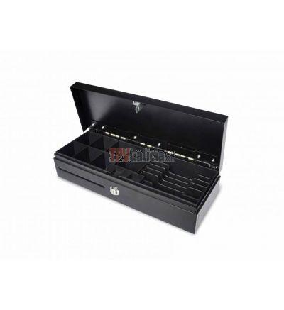Cajón portamonedas Automático Apertura Vertical 46 x 17 Negro