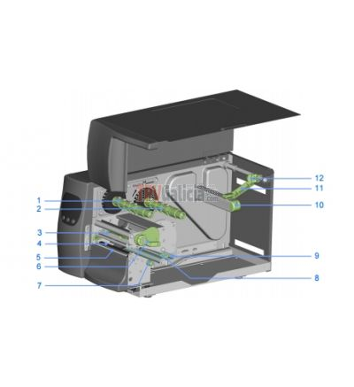 Palanca apertura cabezal para Godex EZ-2200 Plus / EZ2050 / EZ2250i / EZ6000 series