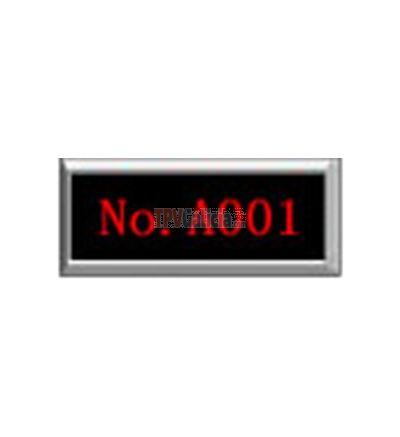CRONOS - Display LED rojos para con indicador del número de Mesa / Ventanilla / Puerta ( 1 fila )
