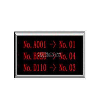 CRONOS - Display LED rojos para con indicador del número de Mesa / Ventanilla / Puerta ( 3 filas )