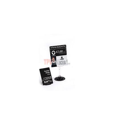 Soporte tarjeta portaprecios DUAL-TICKET HOLDER para 2 tarjetas - Set 5 unidades