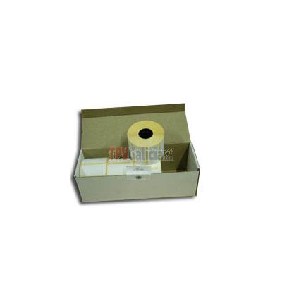 Caja de 10 rollos de etiquetas adhesivas polipropileno térmico (synthermal) 60x80 mm - 1000 etq x rollo