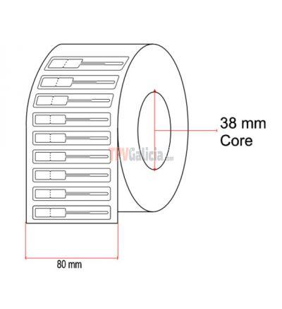 Etiquetas de joyería tipo lanza para anillos - 8mm x 20mm x 20mm