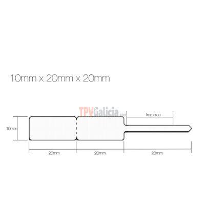 Etiquetas de joyería tipo lanza para anillos - 10mm x 20mm x 20mm