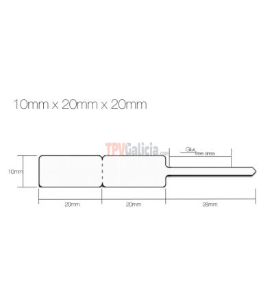 Etiquetas de joyería tipo lanza para anillos - 10mm x 22mm x 22mm