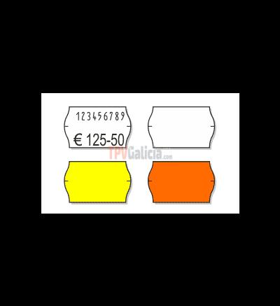Etiquetas Adhesivas Marcaje 26 x 16 mm Onduladas BLANCAS