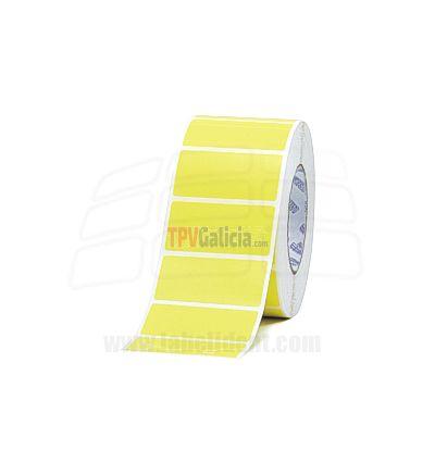 Rollos de Etiquetas Plásticas AMARILLAS Adhesivas de poliester para Impresoras Transferencia Termica - GODEX