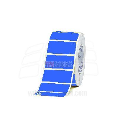 Rollos de Etiquetas AZULES Adhesivas de Papel para Impresoras Transferencia Termica - GODEX