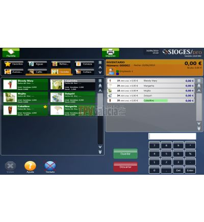 Programa TPV Sioges PRO HOSTELERIA ( Licencia de uso para 1 equipo )