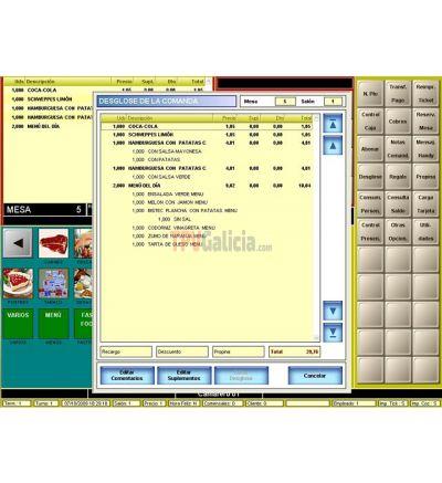 Software TPV para hosteleria BDP.Net táctil