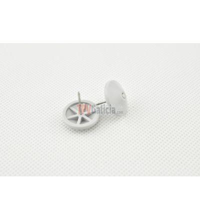 Clavo plástico cabeza domo 16mm estriado (PS) - Caja 1000 unidades