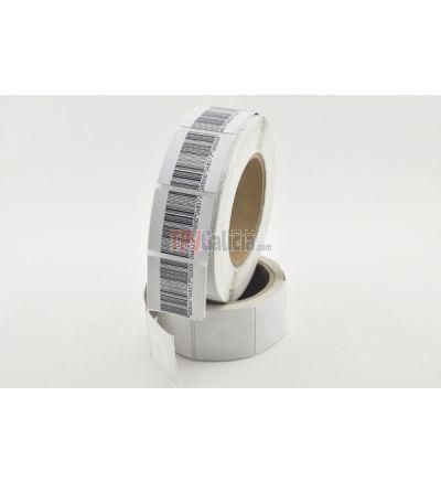 Etiqueta Antihurto Adhesiva 40x40 mm RF 8,2MHz Transparente - Rollo de 1000 unidades