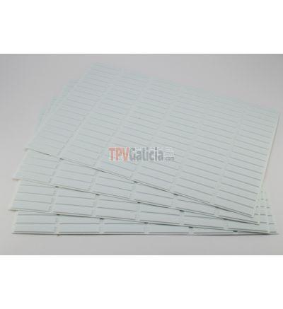 Etiqueta Antihurto Adhesiva AM 58KHz - Mini Ultra Strip DR rígidas - Negra - Desactivables - Caja de 5000 unidades