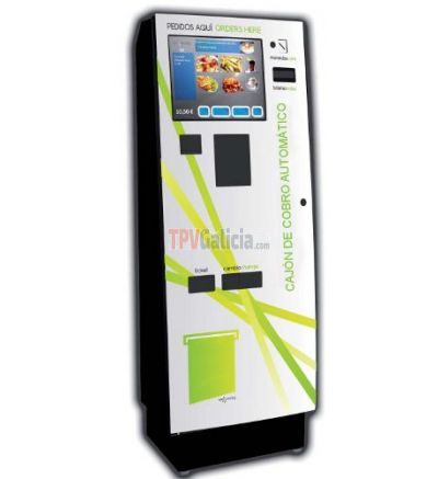 Kiosco Autoservicio táctil y cobro Inteligente OTTO 2 Cash & Credit