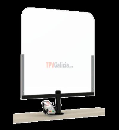 KIT Mampara de Protección para Mostrador TG-DEFEND-01-PINPAD con soporte para PINPAD / DATAFONO