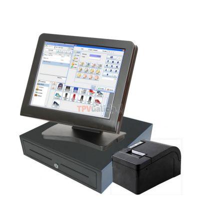 Pack TPV táctil LUNARPOS completo con programa C.ABERTO-POS para Comercios