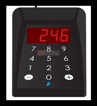 Mando numérico para control de turno con visor 3 digitos