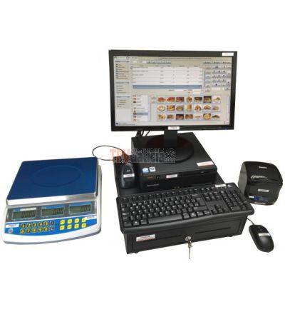 """Pack TPV completo """"ECO-PLUS"""" con programa para Comercios con BALANZA"""