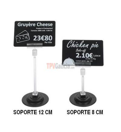 Soporte magnético tarjeta portaprecios 12 cm altura - Set 25 unidades