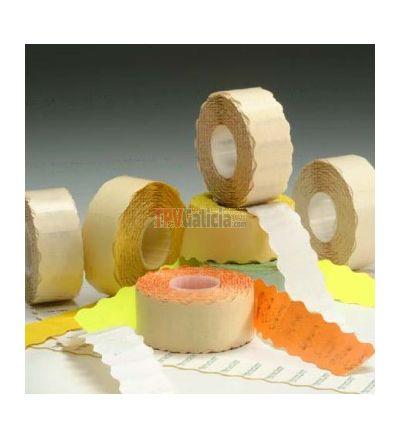 Etiquetas standard adhesivo permanente fluor 26x12 Rectangular