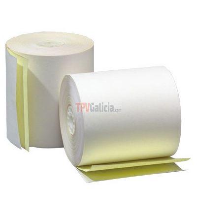 Caja de rollos de papel autocopiativo 57 x 65 mm