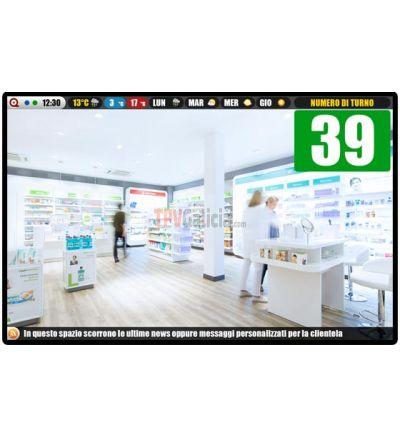 Sistema Gestión de Colas Multimedia TG-TURN-MULTI para farmacias