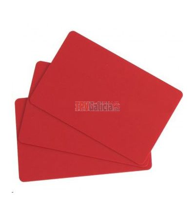 Caja de Tarjetas Rojas PVC (100 uds.) para impresoras Evolis Edikio