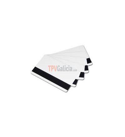 Tarjeta de banda magnética laminada PVC blanca 0,76 mm (Caja 50 unidades)