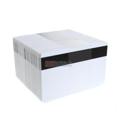 Tarjetas PVC blancas con banda magnética para impresoras de tarjetas (Pack de 100)