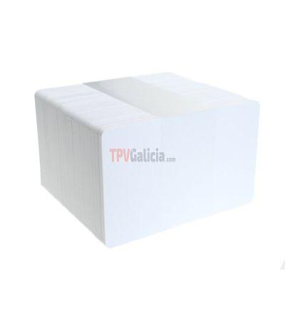 Tarjetas PVC blancas biodegradablas (Pack de 100)