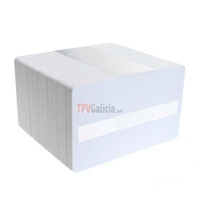 Tarjetas PVC blancas con panel de firma para impresoras de tarjetas (Pack de 100)