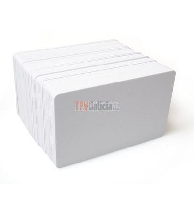 Tarjetas PVC blancas para impresoras de tarjetas (Pack de 100)