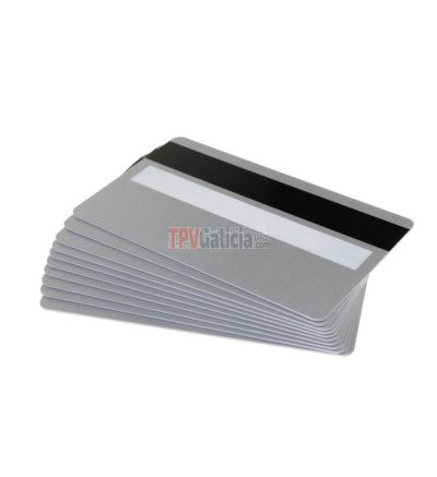 Tarjetas PVC negras mate con panel de firma para impresoras de tarjetas (Pack de 100)