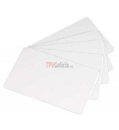 Caja de Tarjetas Blancas PVC-U (500 uds.) Válidas normativa uso alimentario