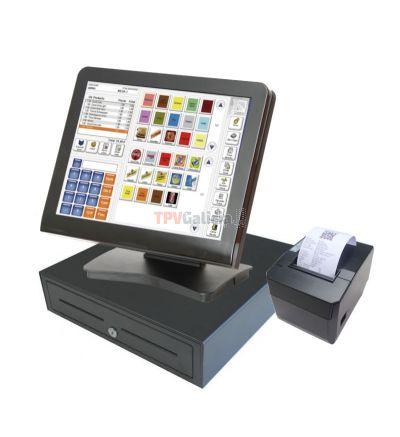 Pack TPV táctil LUNARPOS completo con Software TPV AGORA Retail