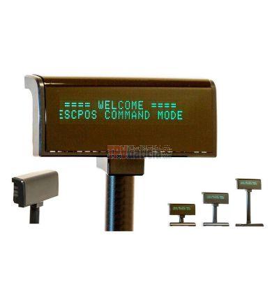 Visor LCD 2*20 USB y RS-232 Negro